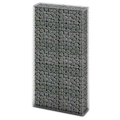 Gabion Basket Wall with Lids Galvanized Gabion Wire Mesh 200 x 85 x 30cm V2G0