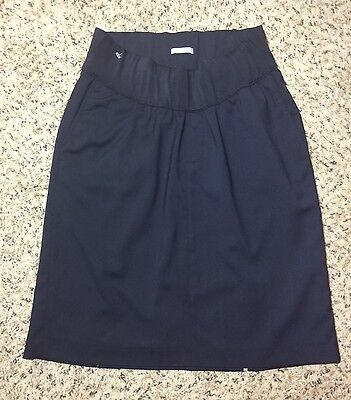 New Size 2 GAP Maternity Elastic Band Navy Blue Lined Pencil Skirt with Pockets