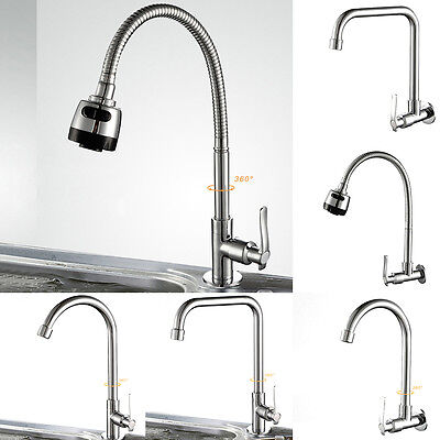 6 Types 360° Rotating Kitchen Bathroom Sink Single Handle Basin Faucet Tap 1X