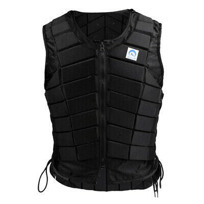Professional Horse Riding Safety Equestrian Protective Black Zip Vest Protector