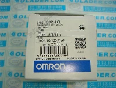 New 1Pcs H3CR-H8L Timer Power Off Delay 100-120VAC Omron Plc Module ak
