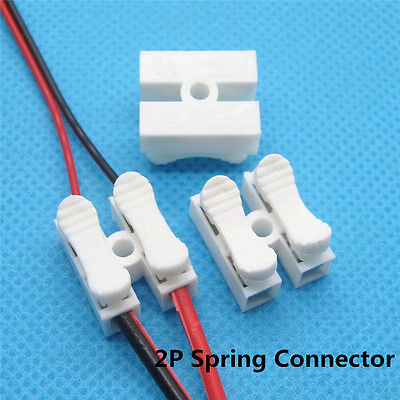 10pcs 2p Spring Connector wire with no welding no screws Quick Connector