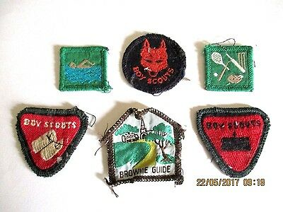 ~~6 x VINTAGE BOY SCOUT & BROWNIE GUIDE SEW ON BADGES/PATCHES - GC~~