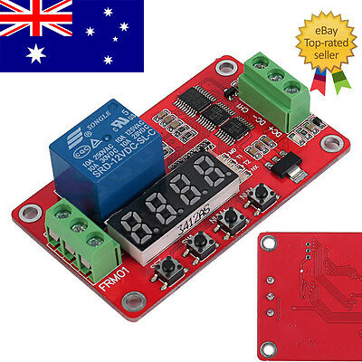12V DC CH1 Self-lock Relay PLC Cycle Timer Module Delay Time Switch AU Stock