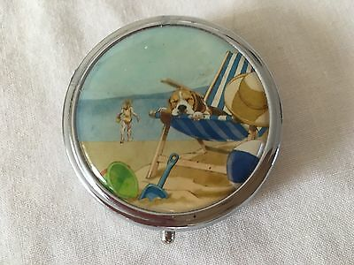 Pill Box - Seaside Deckchair Bucket & Spade