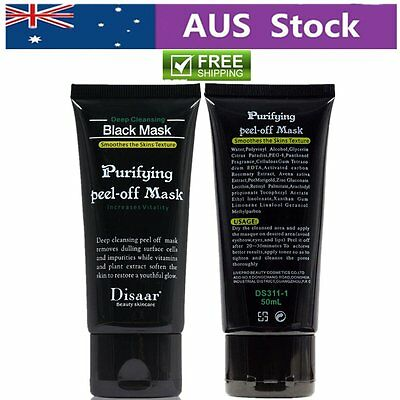DISAAR Peel Off Nose Blackhead Remover Acne Mud Bamboo Charcoal Face Mask Hot AU