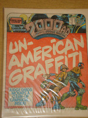 2000Ad #206 British Weekly Comic Judge Dredd Apr 1981 *