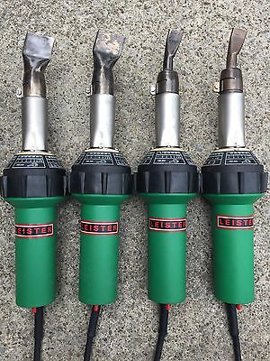 4 Leister Triac S Heat Guns Welders (2) 20MM & (2) 40MM Nozzles