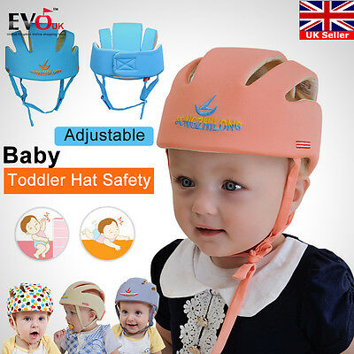 Toddler Baby Safety Adjustable Helmet Headguard Cap Harnesses Protective Hat Kid