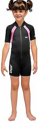 Cressi Kid Shorty Shorty Wetsuit - Black/Pink 1.5 mm - 3/4 Age