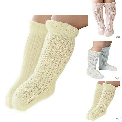 Lovely Baby Kids Girls Knee High Cotton Socks Infant Baby Warm Stocking Hosiery