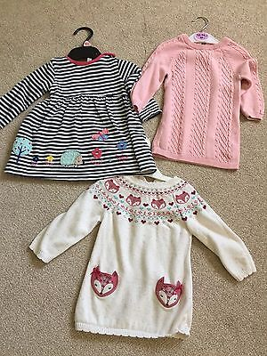 3x Baby Girl Dresses 3-6 Months