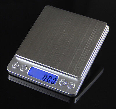 0.01g Digital Precision Platform Scale Stainless Steel Electronic Balance 500g