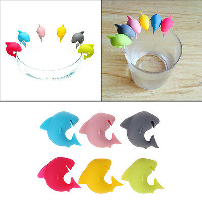 Marker Cup Marker Wine Glasses Recognizer Shark Party Dedicated Tag Silicone