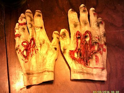Halloween Party Costume Accessories Bloody Zombie Hands Rubber Gloves