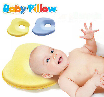 Newborn Baby Infant Pillow Memory Foam Prevent Flat Head Anti Roll Support Neck