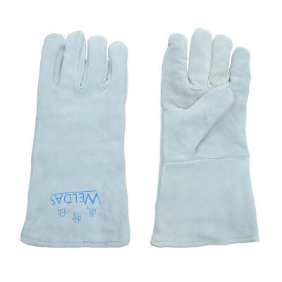 Protective Gloves Cowhide Leather Welding Gloves Heat resistant Mitten Large