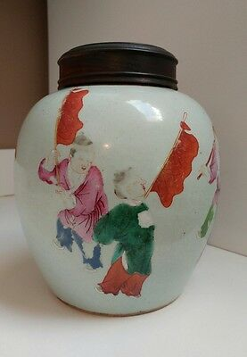 Antique Chinese porcelain Ginger jar 18th - 19th century.