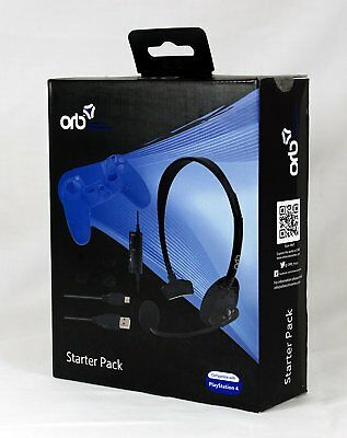 ORB Wired Gaming Chat Headset with Mic for Sony Playstation 4 PS4 NEW