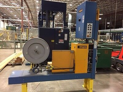 Lantech Automatic Pallet Stretch Wrapper and Strapex Pallet Strapper Bander