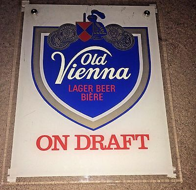 "Old Vienna Ov Lager Beer Biere On Draft Canadian Bar Sign 19"" X 15"""