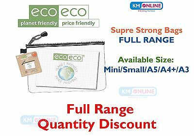 Super Strong Bag Clear Mesh Tuff Zip Cases Ecoeco Stationery Recycled Full Range