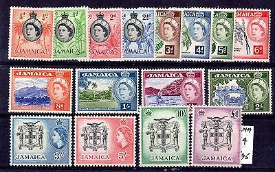 Jamaica QEII 1956 Set To £1 SG159/174 Mint MVLH X6640