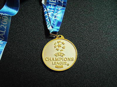 Liverpool V Ac Milan Champions League Medal With Ribbon  2007