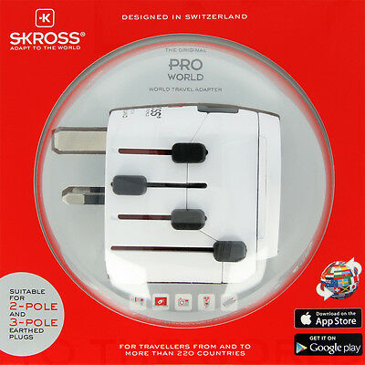 Genuine SKROSS® world travel adapter connect 2- and 3-pole devices PRO - World
