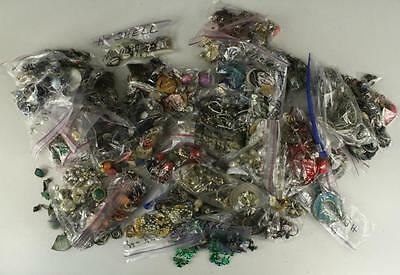 Vintage Box Lot 11LB Costume Jewelry Earrings NO MATCHES for Craft Scrap Salvage