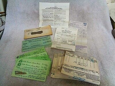 Vtg 1973-75 Sears Roebuck Contract Payment Receipts Lake Forest Checks Jax Fla