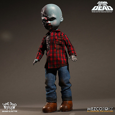 Living Dead Dolls Presents Dawn of the Dead Plaid Shirt Zombie By Mezco IN STOCK