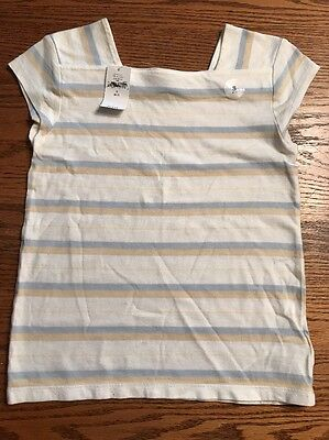GAP Kids Girls Size Small, 6-7 Multi Color Striped Short Sleeve Shirt NWT