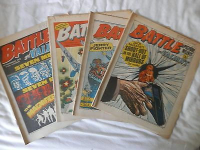 BATTLE and VALIANT comic 4 issues (1976)