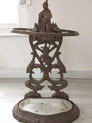 Antique French Cast Iron Stick Stand.
