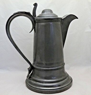Magnificent Rare Antique Georgian Pewter Gothic Large Flagon James Dixon & Son