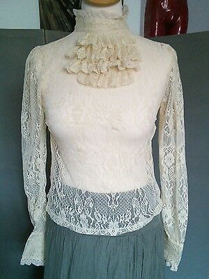 Victorian, Steampunk Style Lace Blouse by Poof