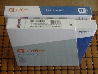 Microsoft Office 2013 Professional 32/64-bit DVD and Key NEW SEALED