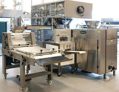Adamatic ADR2 Dough Divider Rounder Bread Glimek Sheeter, Proofer Bread Line