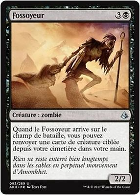 MTG Magic AKH - (x4) Gravedigger/Fossoyeur, French/VF