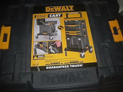 dewalt genuine tstak bottom wheel base cart dwst-1-71229