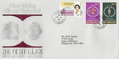 (01111) CLEARANCE Seychelles FDC Queen Silver Jubilee 5 September 1977