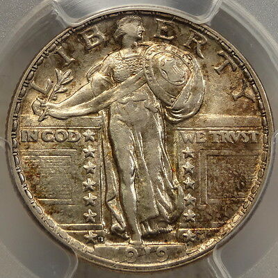 1919-D Standing Liberty Quarter, Choice Almost Uncirculated, PCGS AU-55, PQ