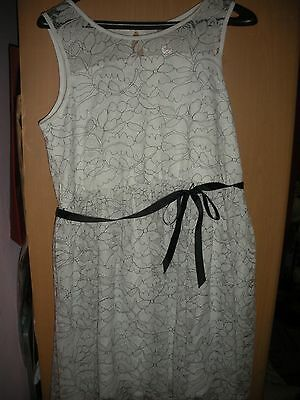 JUSTICE White Lace First Communion Party Wedding Floral Dress Girl 20 Plus NEW