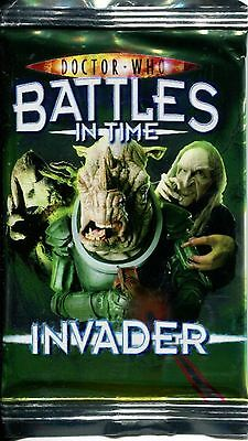 Doctor Who Battles In Time Invader Factory Sealed Hobby Packet / Pack