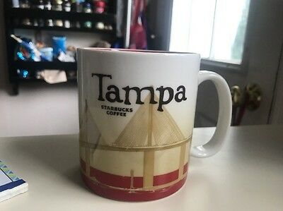 Starbucks Tampa City Mug 2009 Very Rare Collector Series 16 oz Discontinued