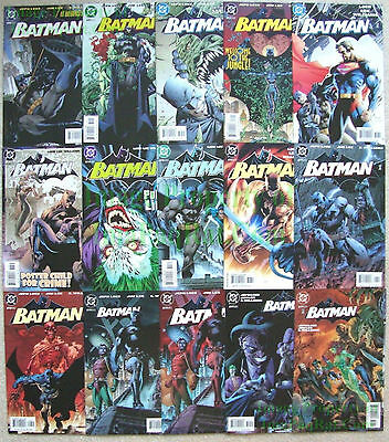 Batman Hush #608-619 x 4 Covers Complete 15 Comics Jeph Loeb & Jim Lee EXCELLENT
