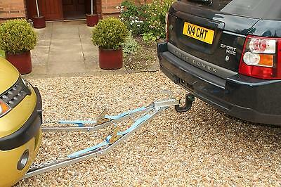 One Man Solo 2.5T Car Recovery A Frame Towing Dolly Trailer Tow Emergency