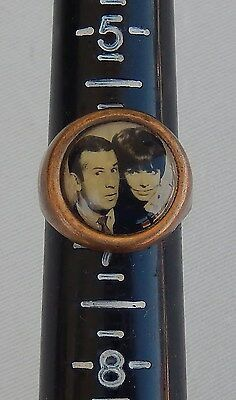 "Vtg. Circa 1960's ""Get Smart"" Classic TV Metal Adjustable Ring Premium"
