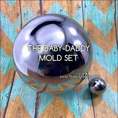 "1"" & 4"" BATH BOMB MOLDS, Heavy Duty Stainless, Won't Dent Like The Others, USA"